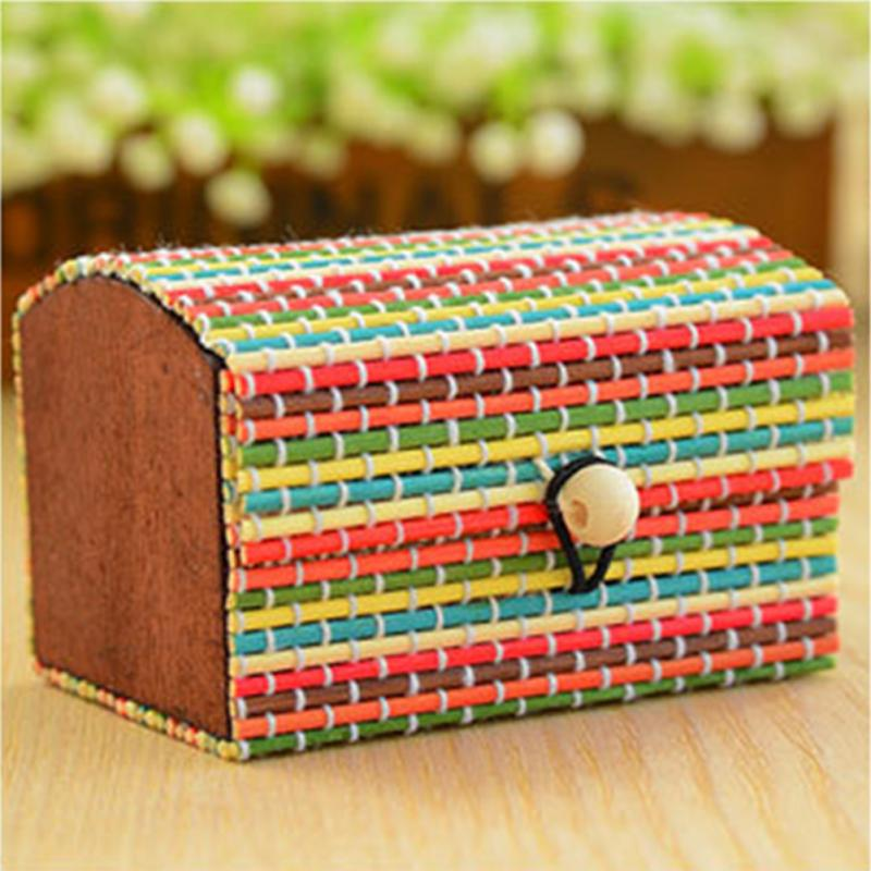 Fashion NEW Handmade Bamboo Wooden Jewelry Box Organizer Storage