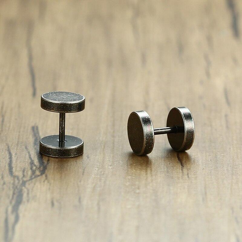 Vintage Steampunk Style Silver Earrings
