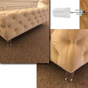 Image 5 - 4 個 4/4。7 インチの家具テーブル脚 M8 アクリル家具脚の足が 100/120 ミリメートルコーヒーティーバースツール椅子脚足