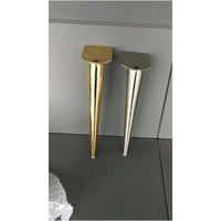 4Pcs Metal Cabinet Furniture Legs Stainless Steel Cabinet Feet Adjustable Kitchen Feet Round (80 x 300 mm)