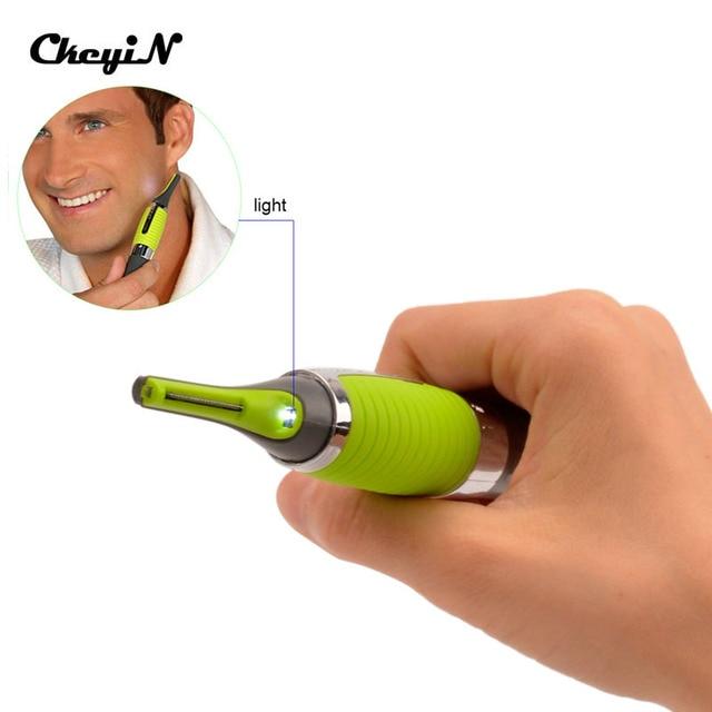 Ckeyin Мода уха бровей нос триммер Многофункциональный Личная Электрический встроенный светодиодный свет Уход за лицом машинка для стрижки волос тример 25