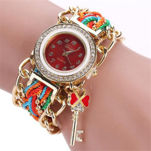 Fashion Women's Dress Watch Bracelet Watch Ladies Leather Band Gold Dial Quartz Wristwatches High Quality bayan saat 28