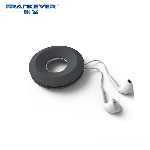 Minimalist Personality Four-Color Circular Winder Wound Fast with Magnetic Center Fixed Earplugs for Earphones/ Other Wire