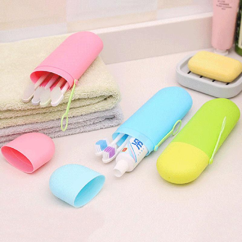 1pc Toothbrush Storage Box Toothbrush Holder Toothbrush Case Bathroom Accessories Home Decoration Accessories Teeth Brush Holder
