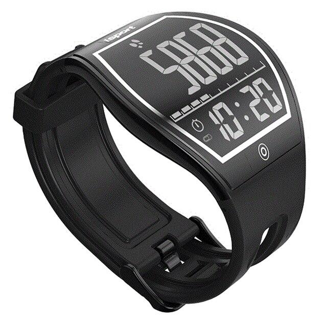 Роскошные модные Фитнес E-Ink изогнутые поверхности Дисплей шагомер Для мужчин Для женщин Открытый Спорт Умные Часы Bluetooth Беспроводной зарядки
