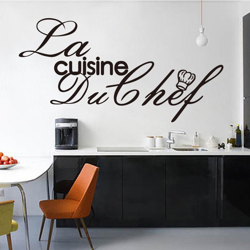 Stickers French Cuisine Chef Vinyl Wall Decals Sticker Mural Wall
