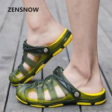 9bcde7595c72f 2018 Summer New Fashion Comfortable Garden Hole Slippers Men Transparent  Breathable Antiskid Sand Beach Slippers(