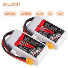2 единицы GOLDBAT 850 mAh LiPo Батарея для FPV 4S LiPo литий-полимерный аккумулятор 14,8 V 4S lipo 75C с XT30 разъем для гул Хели автомобилей Лодка