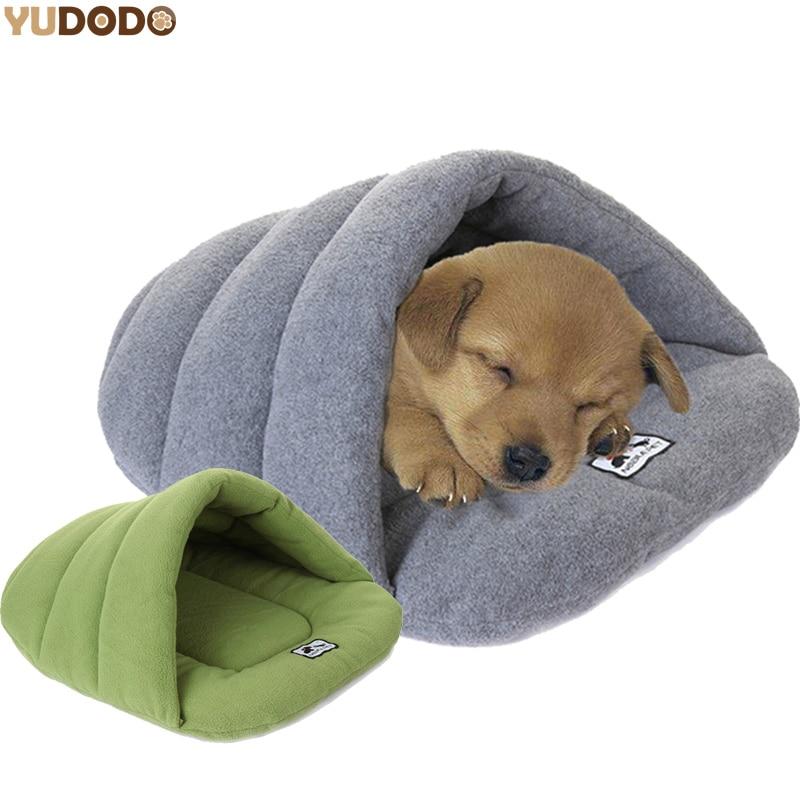 slipper style winter warm fleece pet cat sleeping bags