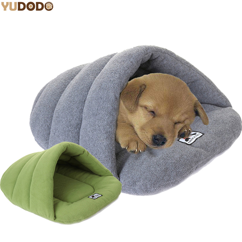 Slipper Style Winter Warm Fleece Pet Cat Sleeping Bags Puppy Small Dog Bed With Cushion Pet Rabbit Squirrel Hamster House