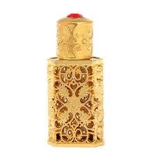 ミリリットルアンティーク金属香水瓶アラブスタイルエッセンシャルオイルボトル容器合金王室のガラスボトル結婚式の装飾のギフト H 2 D