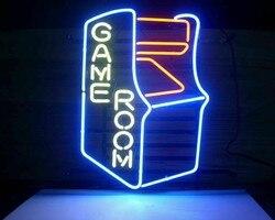 Пользовательский игровой зал аркадный стеклянный неоновый светильник знак пивной бар