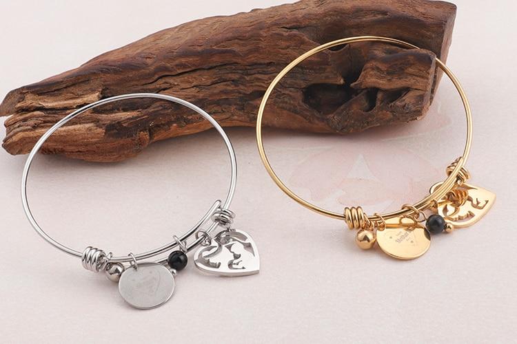 Happy Mother's Day Bracelet - Mom And Child Heart Bracelet