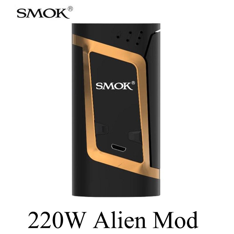 SMOK Alien Vape boîte Mod Cigarette électronique 18650 batterie Mod E Cigarette narguilé VS 213 RX200S S225