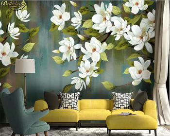 beibehang Custom photo wallpaper mural American retro flowers birds and flowers modern minimalist abstract background wall paper