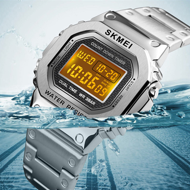 SKMEI Sports Watches Electronic Mens Watches Top Brand Luxury Military Waterproof LED Digital Watch Male Clock Relogio Masculino