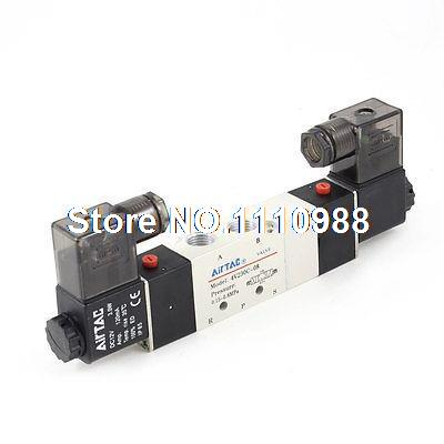 DC 12V 3W 5 Port 2 Position Air Control Solenoid Electromagnetic ValveDC 12V 3W 5 Port 2 Position Air Control Solenoid Electromagnetic Valve