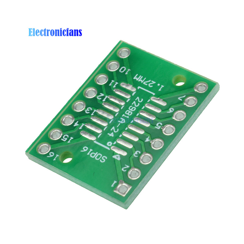 10pcs SOP16 SSOP16 TSSOP16 To DIP16 0.65/1.27mm IC Adapter PCB Board