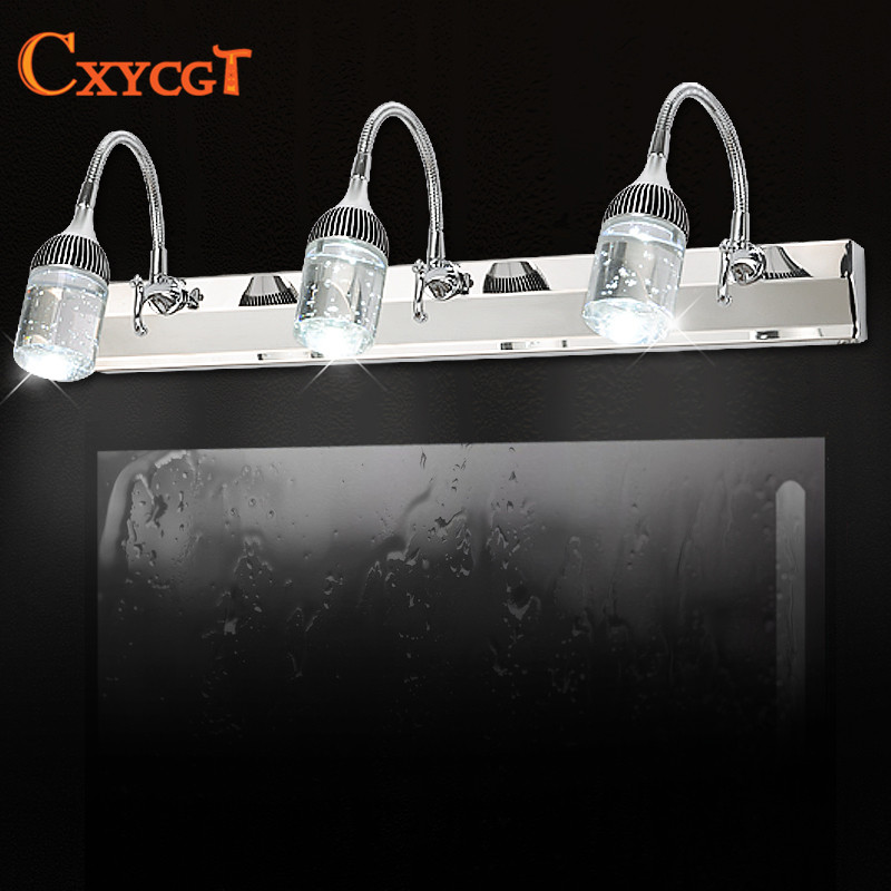 Modern Stainless Steel LED front mirror light bathroom makeup wall lamps led vanity toilet wall mounted sconces lighting fixture бюстье willow бюстье