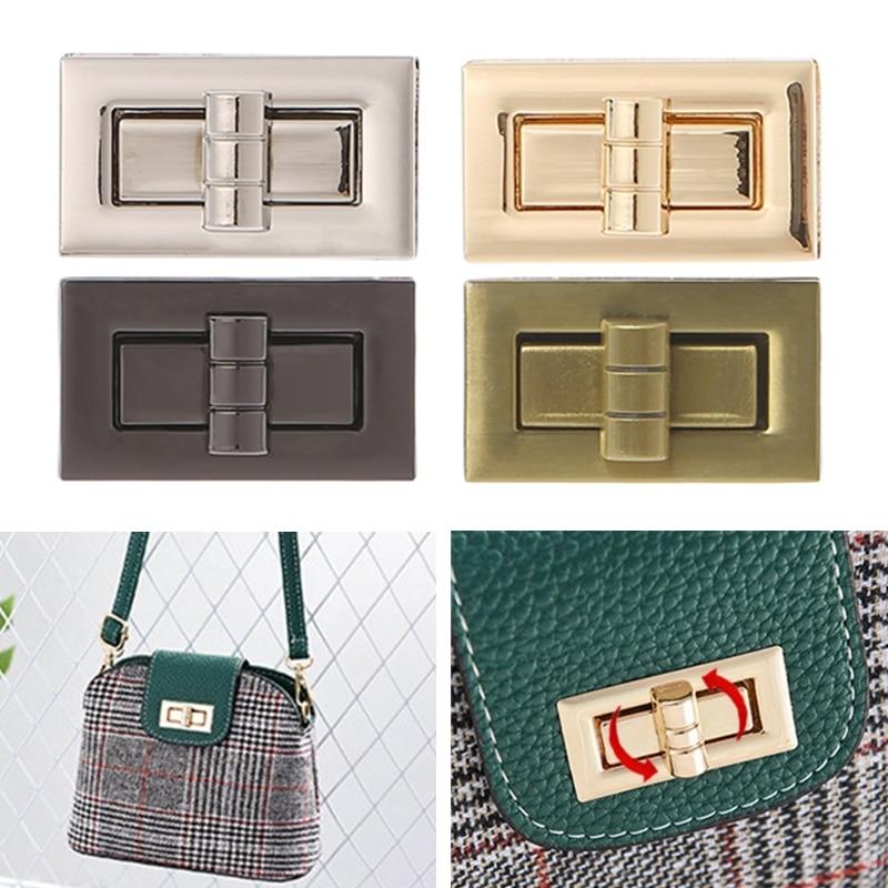 THINKTHENDO New Metal Clasp Turn Lock Twist Lock for DIY Handbag Craft Bag Purse Hardware twist lock grab bag