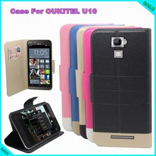 OUKITEL U10 Case New Arrival 5 Colors Factory Price Flip Leather Exclusive Case For OUKITEL U10 Cover tracking number