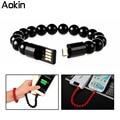 Aokin Buddha Contas Pulseira Carregador USB Cabo de Carregamento Para IOS telefone samsung htc lg nokia telefones inteligentes android micro usb cabo