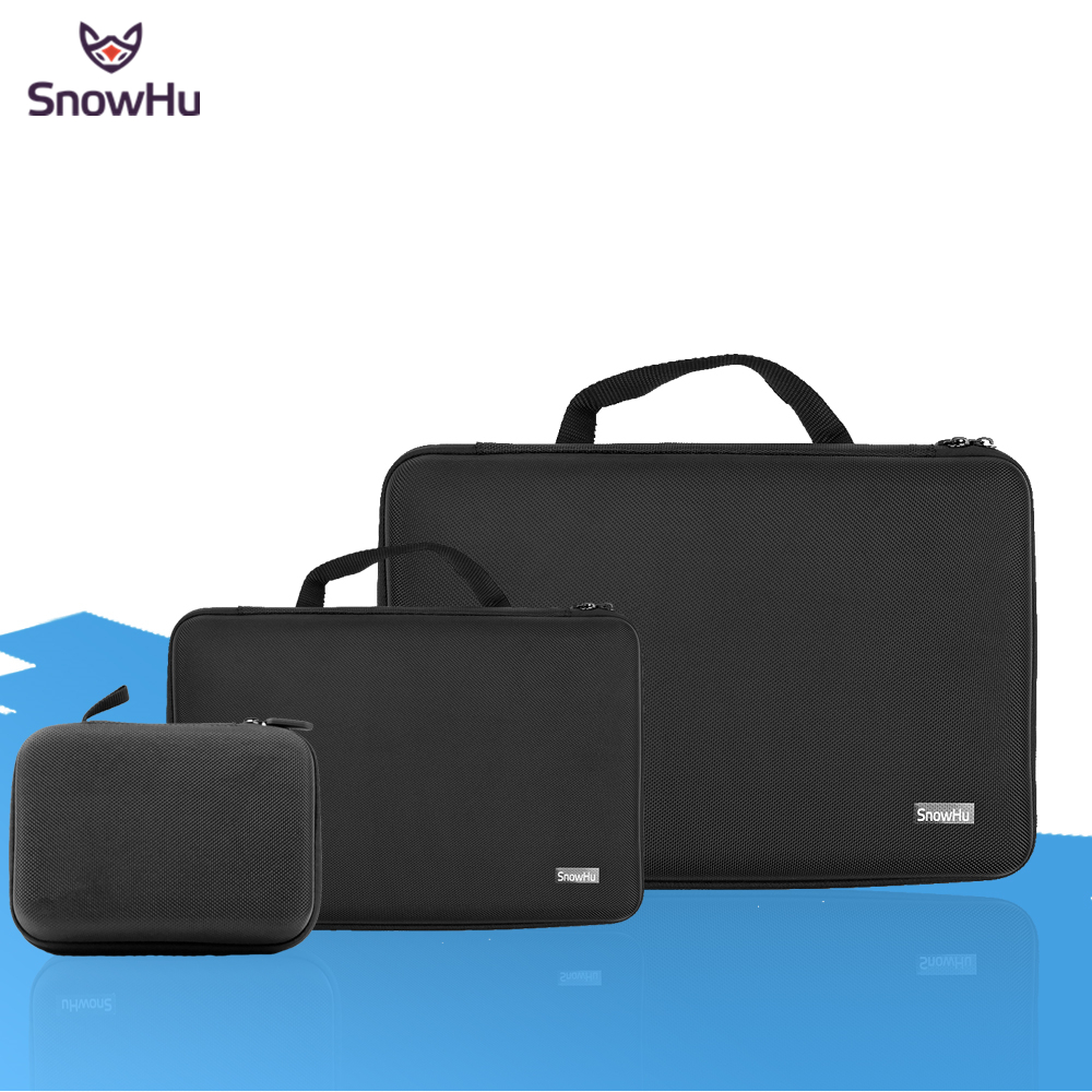 SnowHu Portable Storage Camera Bag For Gopro Case for Xiaomi Yi Action Camera For Go Pro Hero 5 4 3 for SJ4000 Accessories GP110 xiaomi yi 4k accessories protective frame case lens cover for xiaomi yi 2 ii 4k xiaoyi sport action camera case aluminum alloy