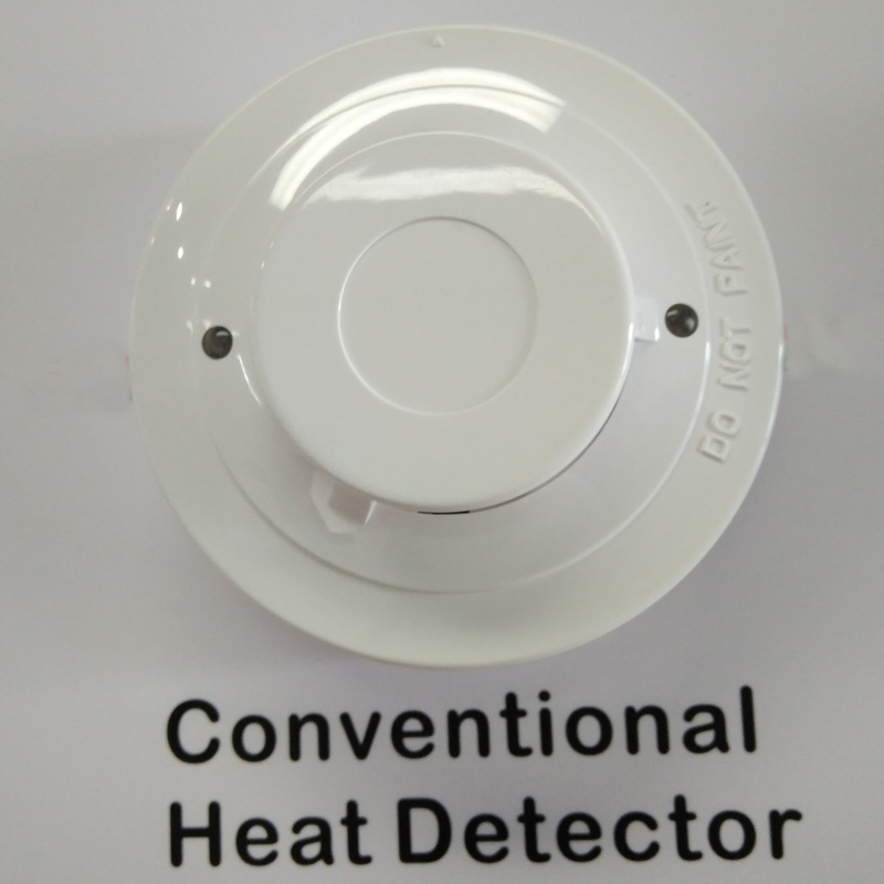 2-wire Conventional Heat Detector Temperature Detector Dual LEDs Thermal Sensor For Fire Protection System
