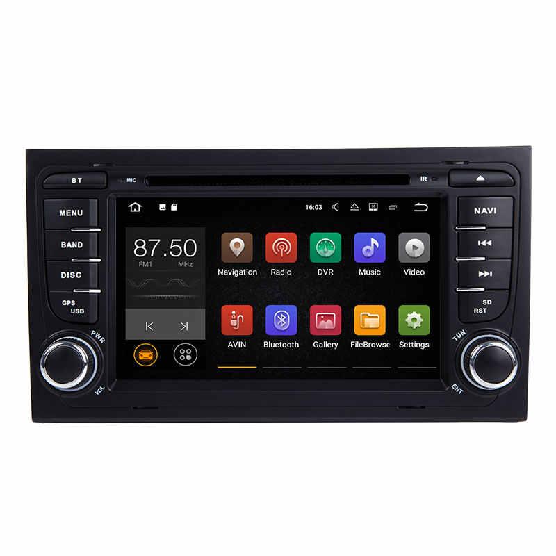 Josmile AutoRadio 2 Din アンドロイド 8.1 車の Dvd プレイヤーアウディ A4 B8 S4 B6 B7 RS4 8E 8H b9 シート Exeo 2002-2008 GPS ナビゲーションオーディオ