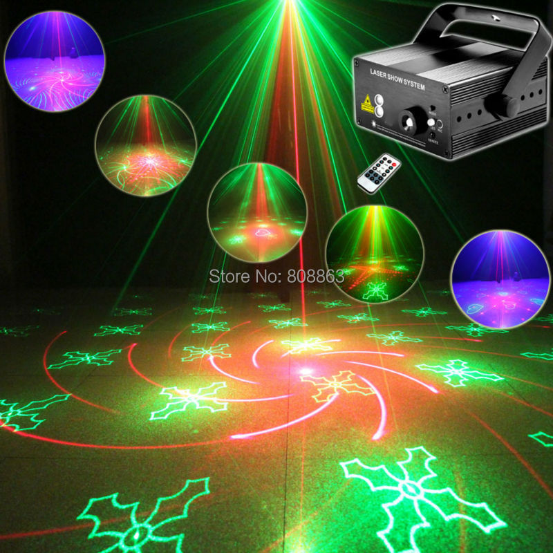 New Mini R&G 40 Patterns Laser Projector Blue Led Gobo Remote DJ lighting Show Disco Xmas Dance Home Party Stage Light Show L40 стоимость