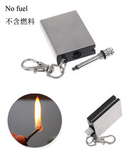 Fire starter tool Metal match flint outdoor survive camp hike bushcraft stone lighter steel magnesium(China)