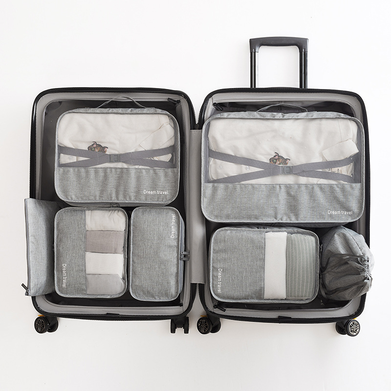 High Quality 7PCS/Set Travel Bag Large Travel Organizer Duffle Bag Portable Luggage Suitcases Bags Packing Cubes Gament Bags