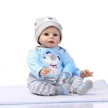 Новый 22 Inch 55 см Силиконовые Винил Возрождается Куклы adora чаки Ручной Дети Принцесса Детские Игрушки bonecas Bebe куклы reborn