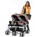 High Landscape Twins Strollers for 0-36 Months Baby Sitting & Lying, Bi-direction & Folding Pushchair For Two Children