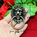 Fast Shipping 43*67mm beast lion head antique alloy handle wardrobe drawer antique door pull handle retro decoration