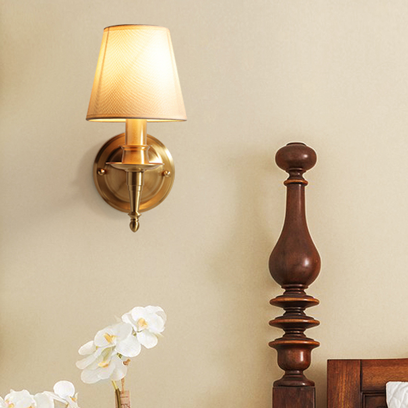 Modern Wall Light Living Room Luxury Wall Sconce Light led Lamp Copper Wall Lamp led Bathroom Mirror Light Bedroom Lighting lamp bjornled america wall sconce copper wall lamp 2 arm fabric shade light living room restaurant cafe bedroom hotel e14 led lamp