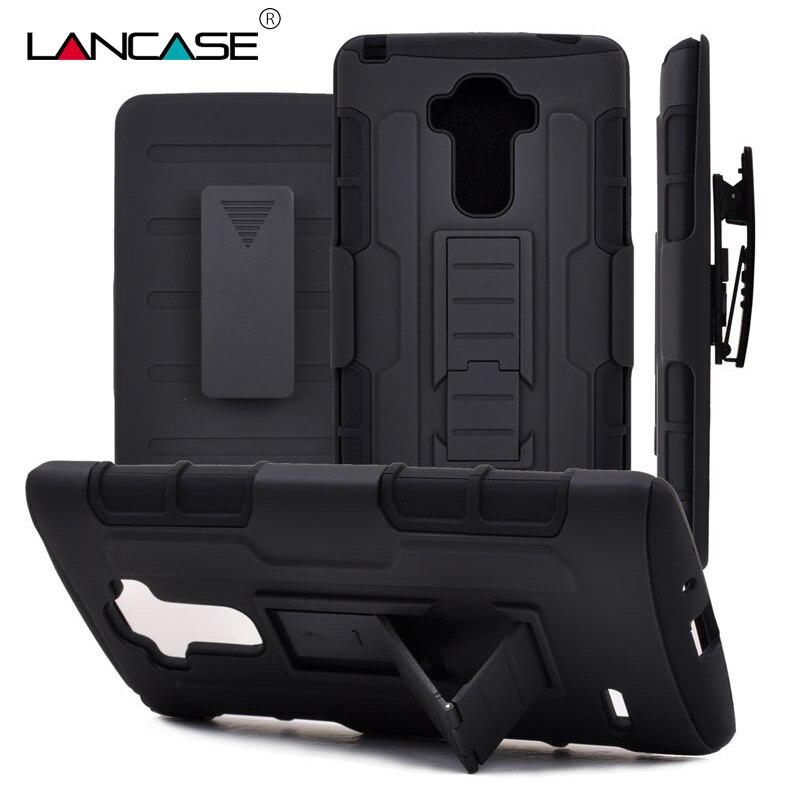 cheap for discount e0150 2fed5 US $4.29 30% OFF|LANCASE for LG G4 Case 3 in 1 Armor Phone Cases for LG G4  G3 G5 K5 K7 K8 K10 Stylus 2 Case Fundas Belt Clip Holster Case K7-in ...