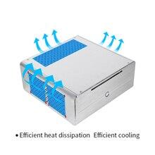Realan aluminum mini itx desktop pc case E-i7 without power supply CD-ROM slots black silver