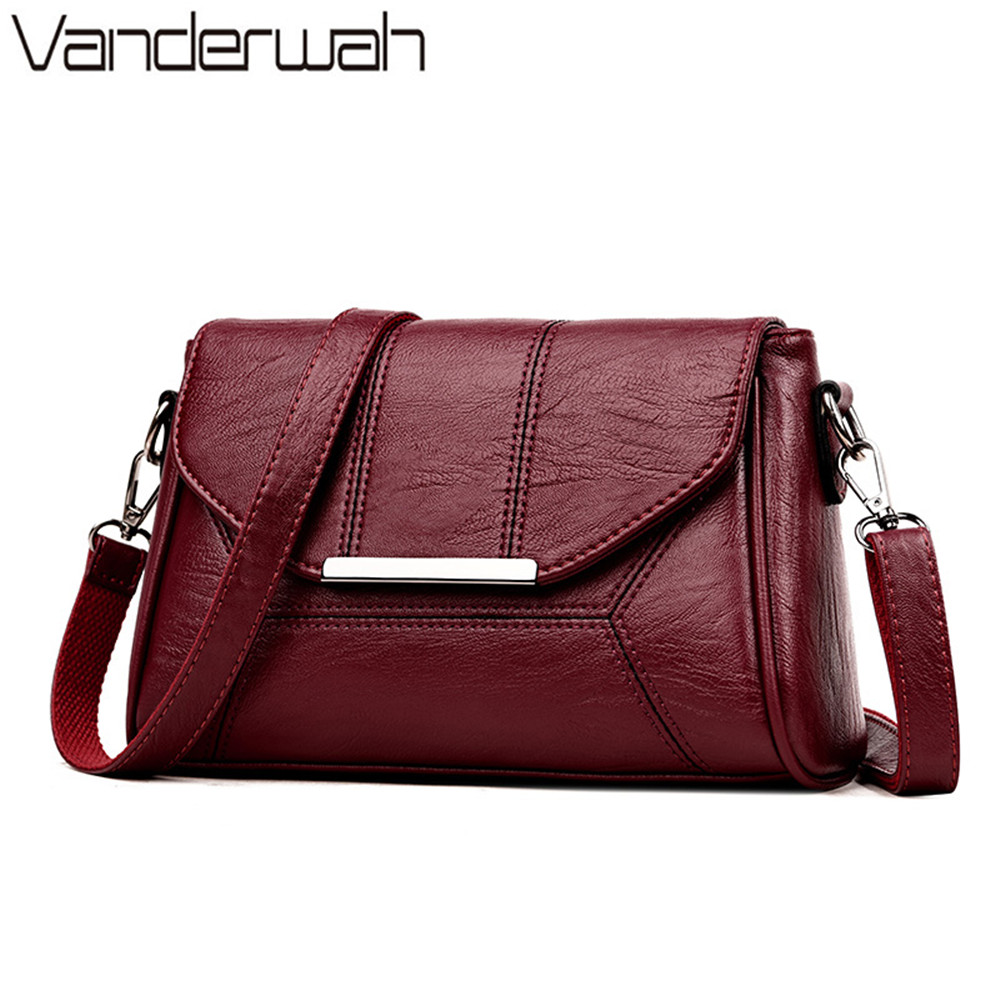 все цены на Luxury Brand Women High Quality PU Leather Handbags Messenger Shoulder Bags 2018 Female Plaid Crossbody Bag Ladies hand bags sac