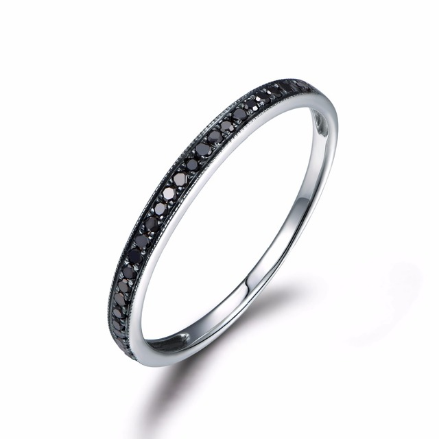 black in rings band bands platinum wedding ring eternity white diamond