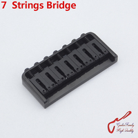1 Set GuitarFamily Super Quantity 7 Strings Electric Guitar Fixed Bridge Stainless Saddle / Steel Plate Black MADE IN KOREA