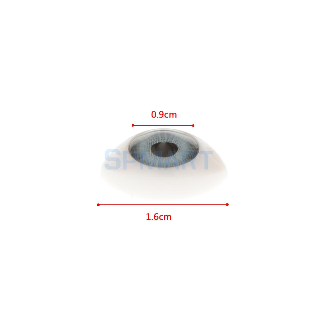 Oval Flat Back Plastic Eyes 5mm//6mm//7mm//8mm//9mm Iris for Porcelain or Reborn Dolls Making DIY Supplies Pack of 4 Pairs 5mm