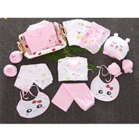 Newborn 100% Cotton Clothes Set Cartoon Infant Baby Boy Girl Spring Summer Clothing Kits Unisex Baby's Clothes Sets Gift Box