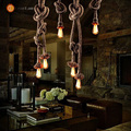 American Rustic Style Handmade Pendant Lamp With E27 Lamp Holders,Hanging Rope Pestaurant Room Lamp Vintage Rope Lamps(DF-62)
