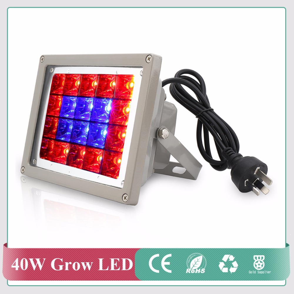 40W Floodlight Red+Blue LED Plant Grow Light for Indoor Plants Hydroponics Plants dropshipping