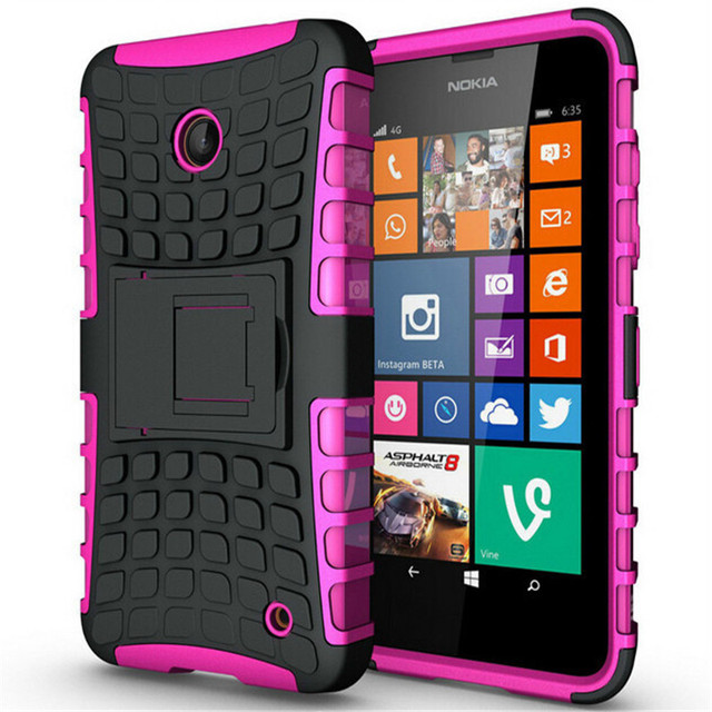 Case For Nokia Lumia 635 636 638 N630 N635 Heavy Duty Armor Shockproof Hybrid Hard Rugged