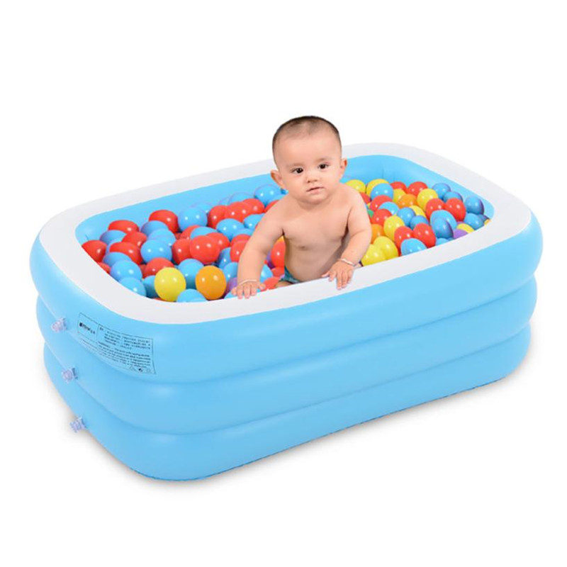 Large Inflatable Swimming Pool Center Lounge Family Kids Water Play Fun Backyard Toy Toys for children 125 * 85 * 45cm
