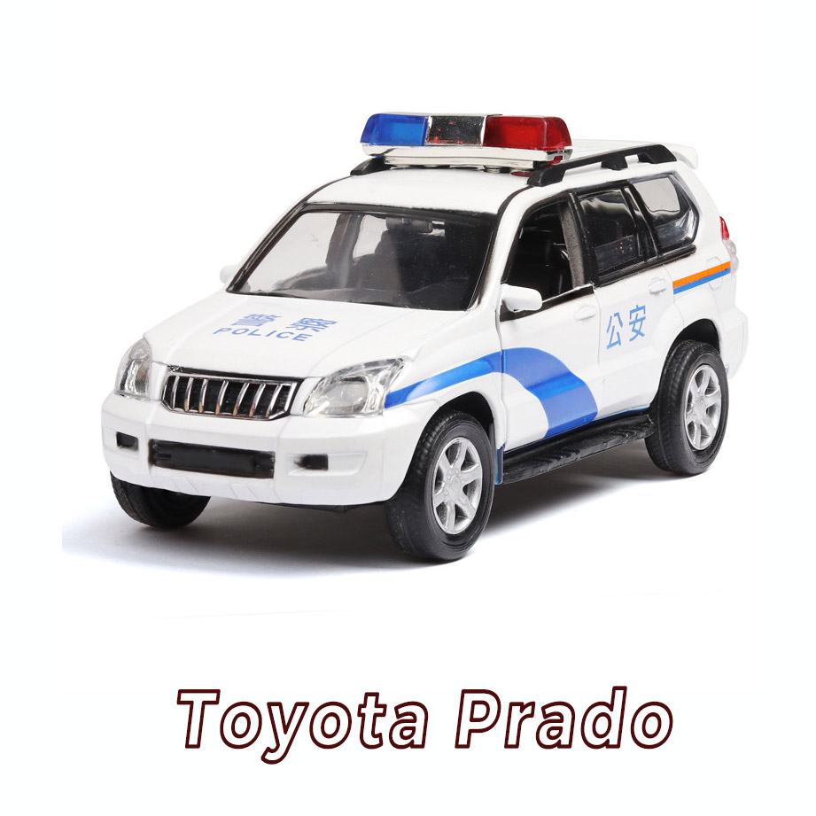 Us 10 07 47 Off New 1 32 Toyota Prado Police Alloy Car Model Patrol Wagon Car Acousto Optic Suv With Pull Back For Boy Toy Gifts Free Shipping In