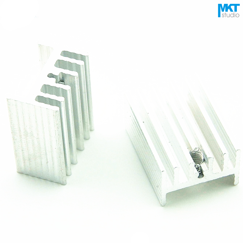 100Pcs 20mmx15mmx10mm Pure Aluminum Cooling Fin Radiator Heat Sink