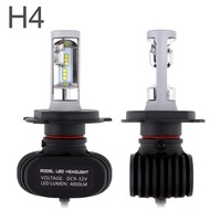 2Pcs H4 Led Auto Car Headlight S1 N1 50W 8000LM 6000K Automobile Bulb All In One